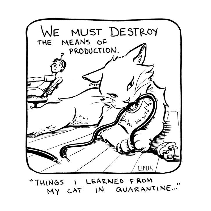 """""""Destroy The Means of Production"""" by Meg Lemieur"""