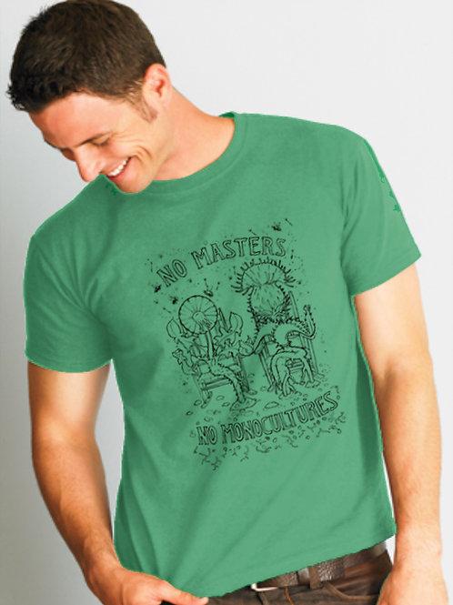 No Masters; green crew neck