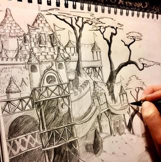 Woodsy Kingdom Sketch, Meg Lemieur