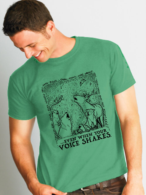 Even When Your Voice Shakes; green crew neck