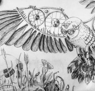 Steampunk Owl, Meg Lemieur