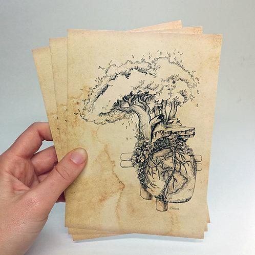 "Heart Earth 5""x7"" print"