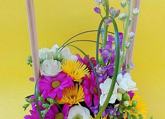 Ящичек с цветами микс