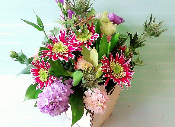 Мини-коробочка с цветами