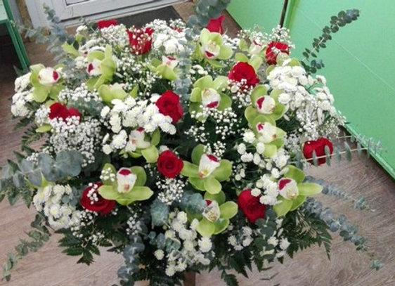 """Корзина с орхидеями """"ДЛЯ ЛЮБИМОЙ"""""""
