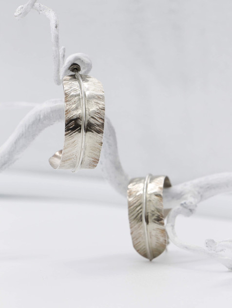 Sterling feather Earings