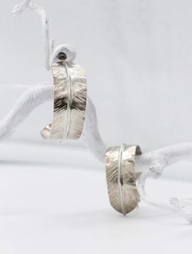 Sterling feather earrings