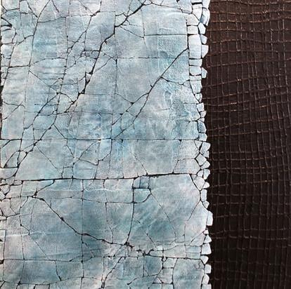 Study in Pthalo Blue & Titanium White
