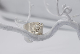 Sterling sliver reticulated ring