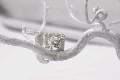 Sterling Silver Reticulated Rring.