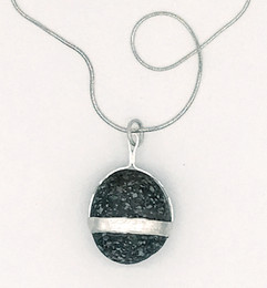 Sterling Necklace with one Single Stone