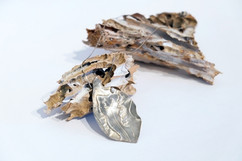 Sterling Fused Leaf Pendant with Necklace