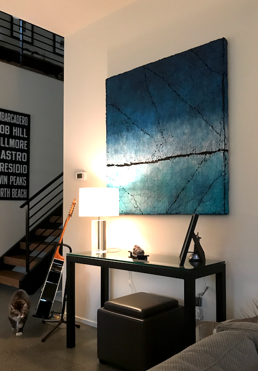 Karen Bagayawa's painting in situ