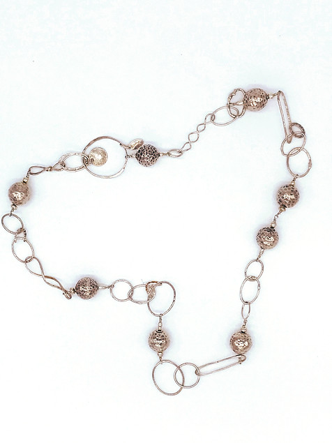Sterling Silver Necklace with Sterling Beads