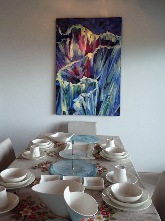 Painting in dining room