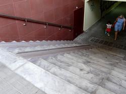 Подземный переход - проступи Шагрень, колясочный трап