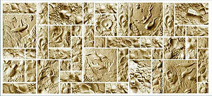 Фасадный камень форма пластик ПВХ АБС 6