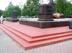 Стелла воинской славы - проступи и тротуарные плиты Шагрень