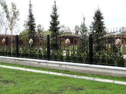 Применение барельефа Лев на заборе