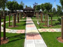 Плитка Брусчатка, Сегменты на прогулочной садовой дорожке