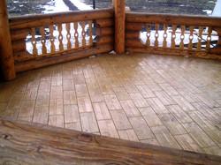 Пример применения тротуарной плитки Дощечка