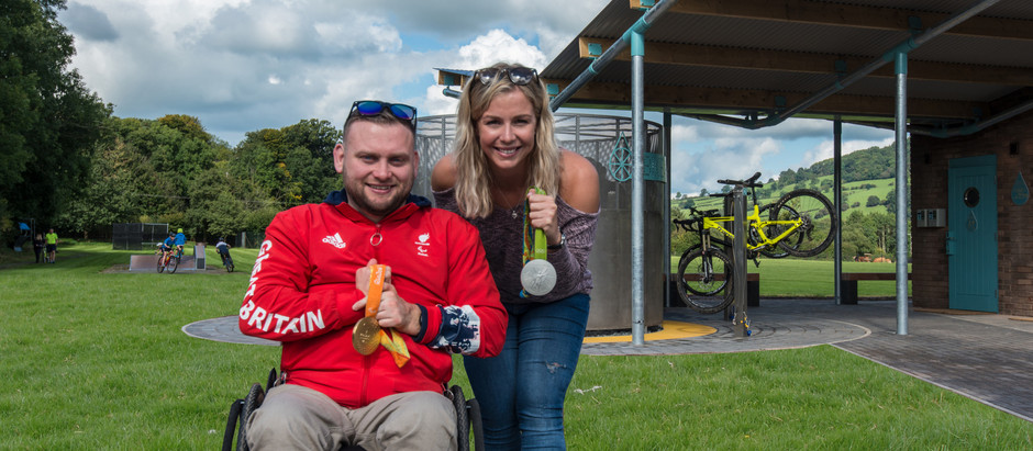 Olympian's Becky James and Rob Davis open our Bike Hub - Talybont