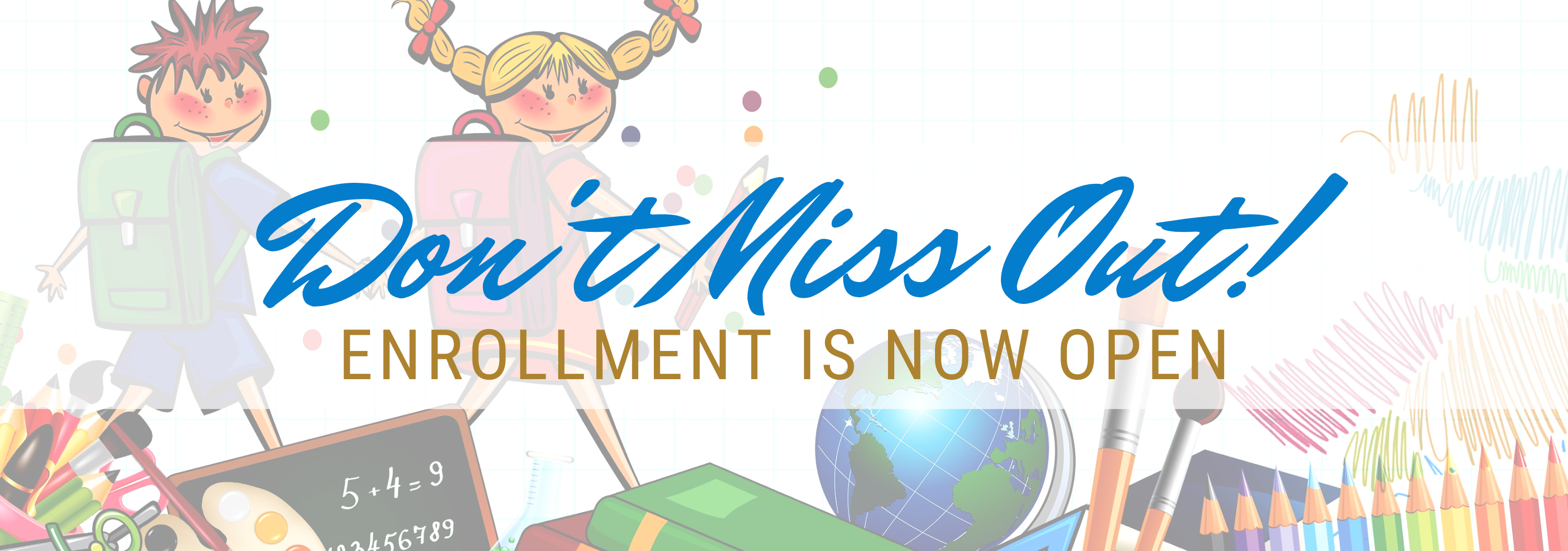 Enrollment Website Banner
