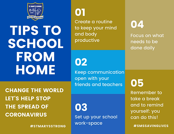 SMS Tips to School from Home COVID Flyer