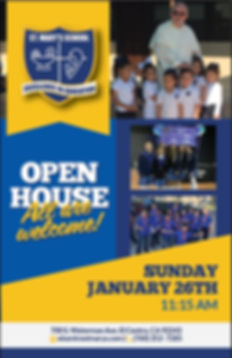 Open House Flyer January 2020 from Schoo