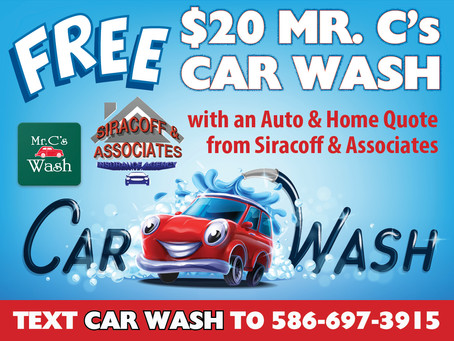 Get A Free Mr. C's Car Wash!