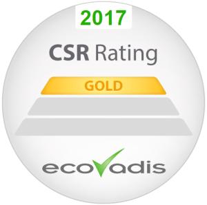 EcoVadis Gold Award