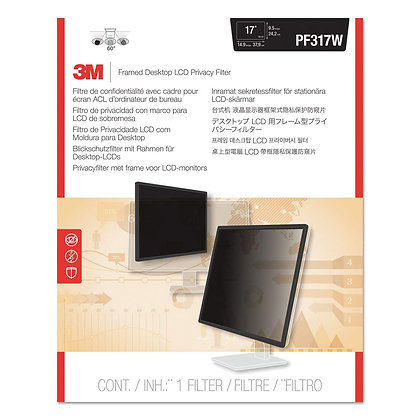 3M Standard Widescreen Privacy Filter with frame (Selectable Size)