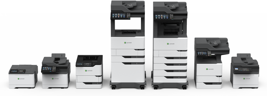 From small desktop printers to fully configured departmental MFPs