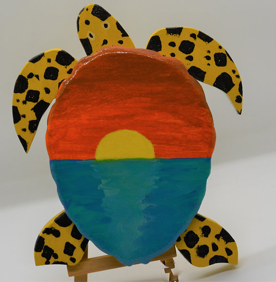 Hand Made Wood Turtle