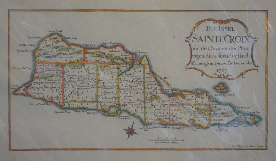 St. Croix Plantation Map