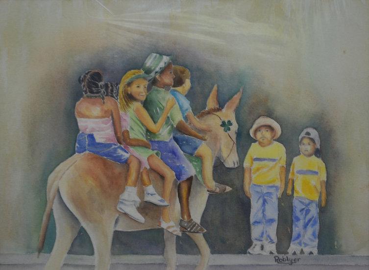 Kids On Donkey