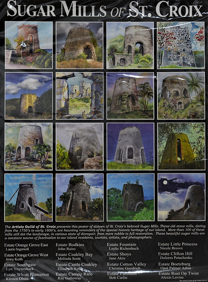 Sugar Mills Of St. Croix Poster