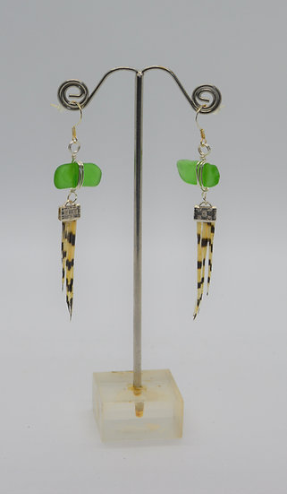 Lionfish Earrings With Seaglass