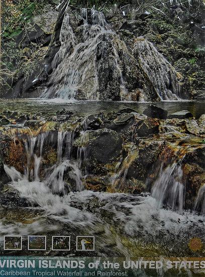 Sunset Waterfall Poster