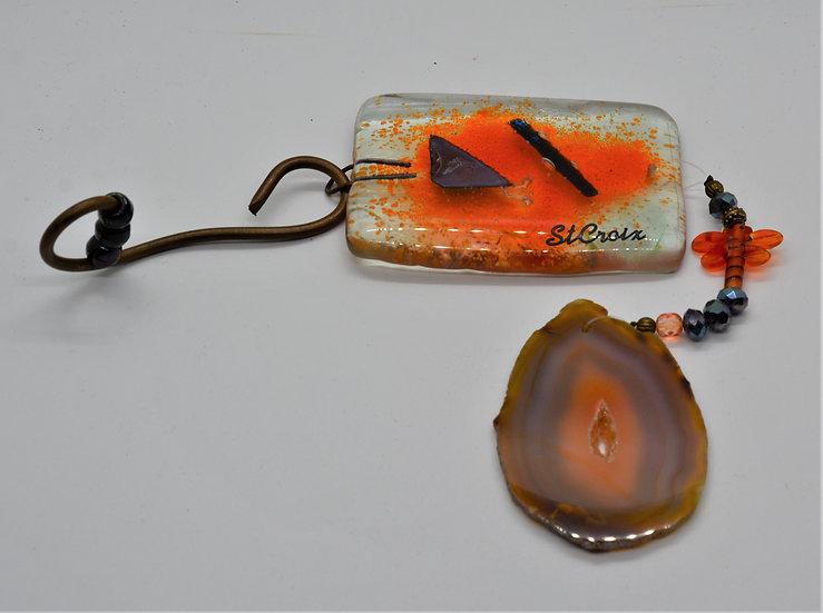 Orange Geode Suncatcher