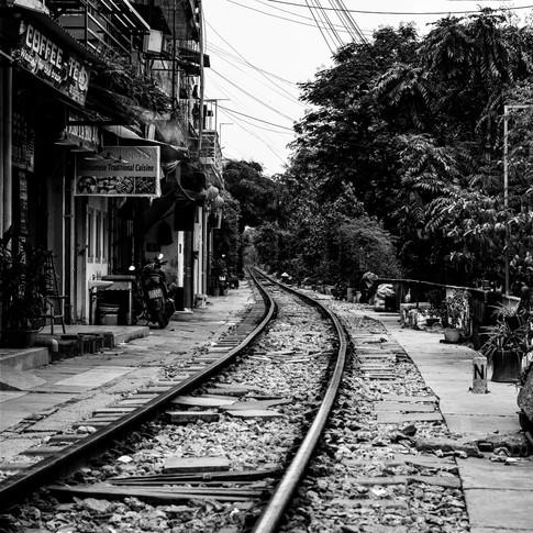 Spoorlijn door Hanoi