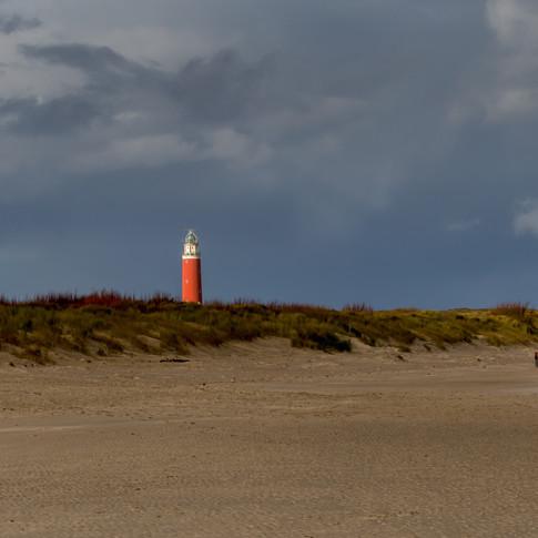 Regenboog op het strand van Texel