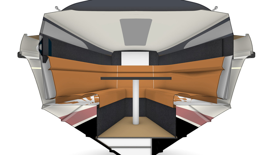 SALOON CONVERTS TO A DOUBLE BERTH