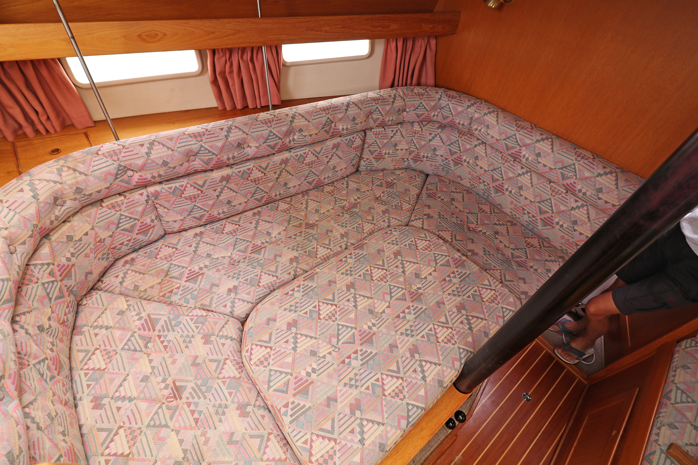 Seating converts to a double berth