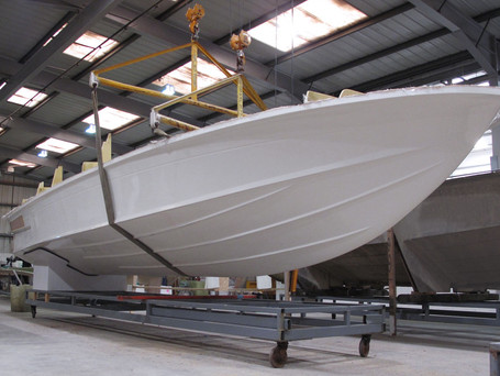 First Spearfish 32 hull in production