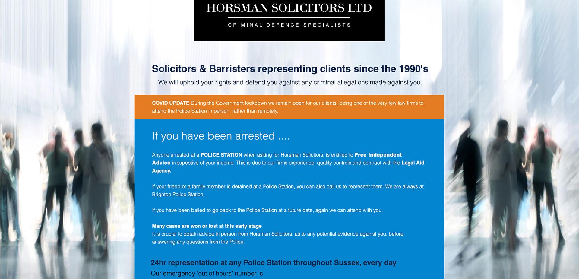 HORSMAN SOLICITORS
