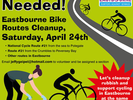 Eastbourne Bike Routes Cleanup - Saturday 24th April 2021
