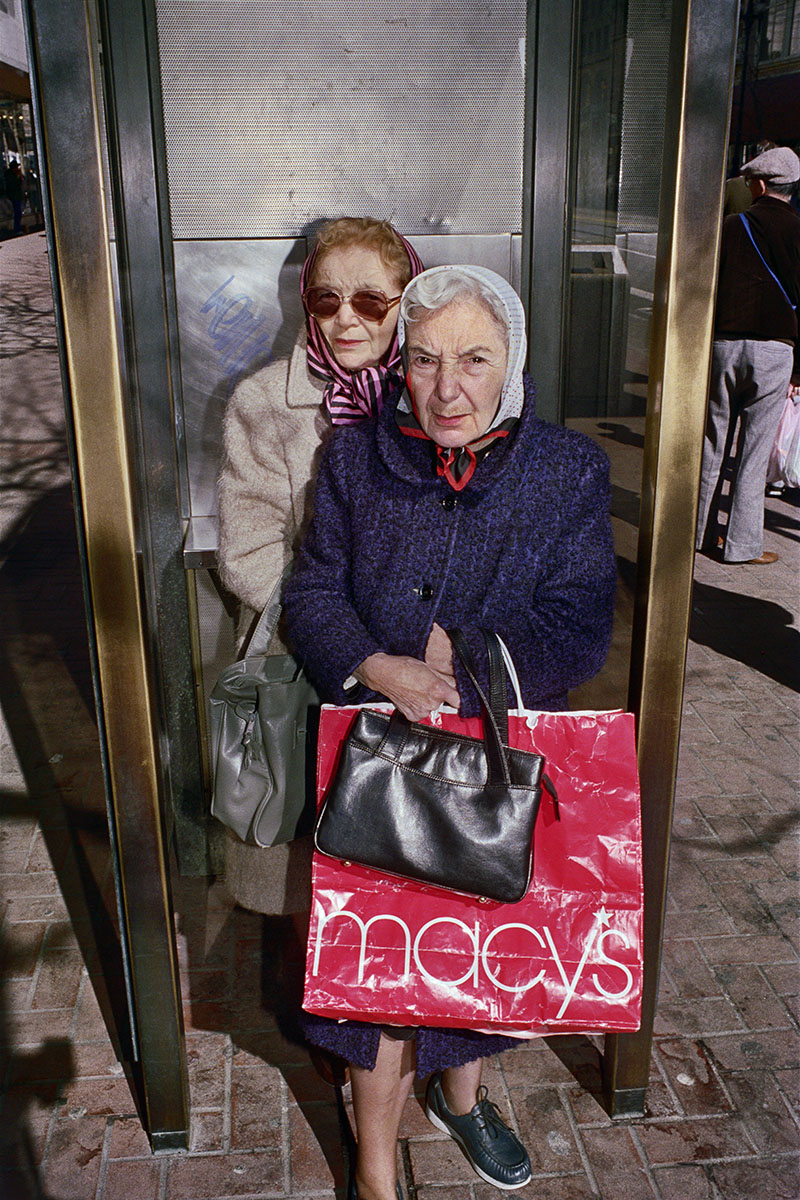 Two Women Shopping on Market St, 1986