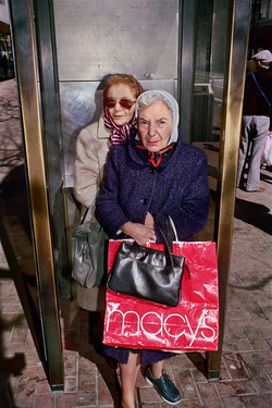 Two Women Shopping on Market St, 1986