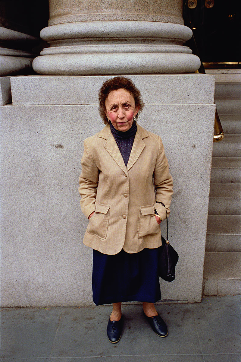 Woman with Rosy Cheeks on Market St, 1986